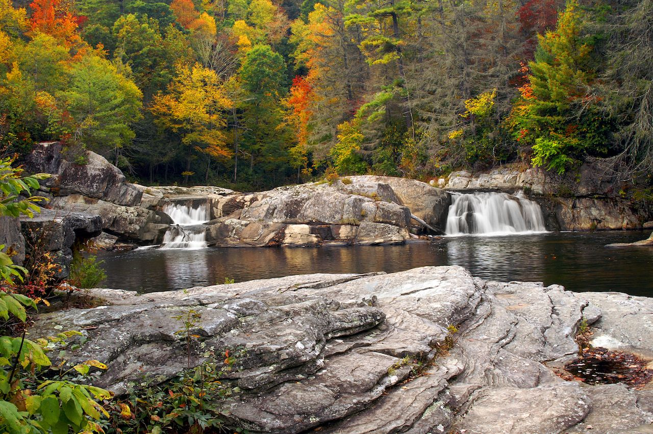 Autumn Linville Upper Falls, North Carolina