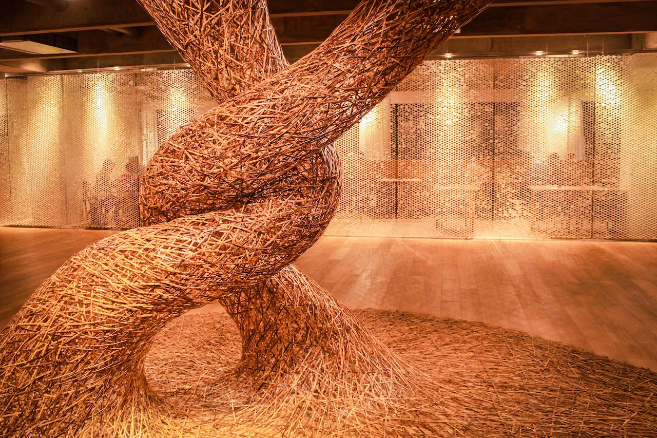 Bamboo Art Sculpture in Sao Paulo's Japan House