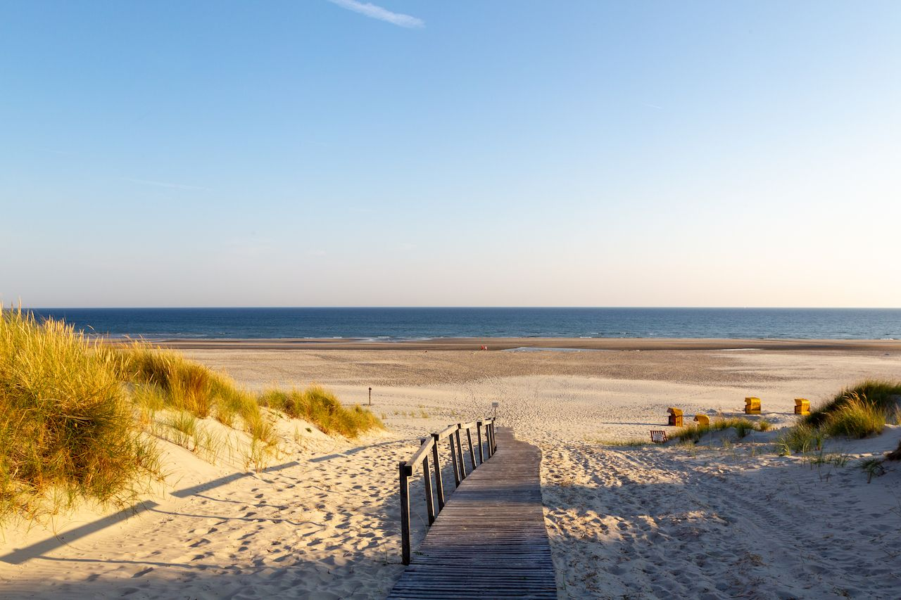 Beach on the East Frisian Island in North Sea, Germany
