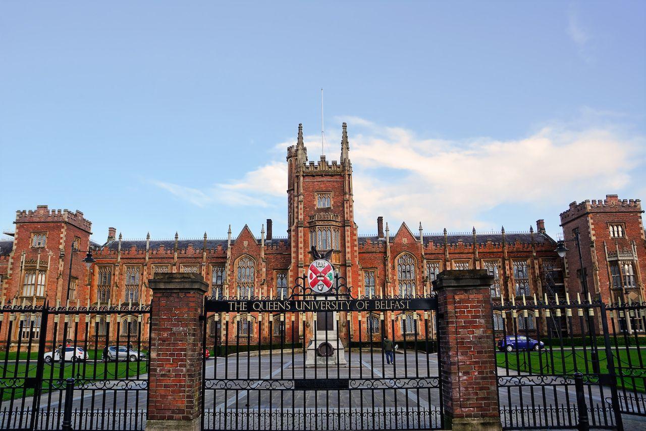 Belfast Queen's University entrance