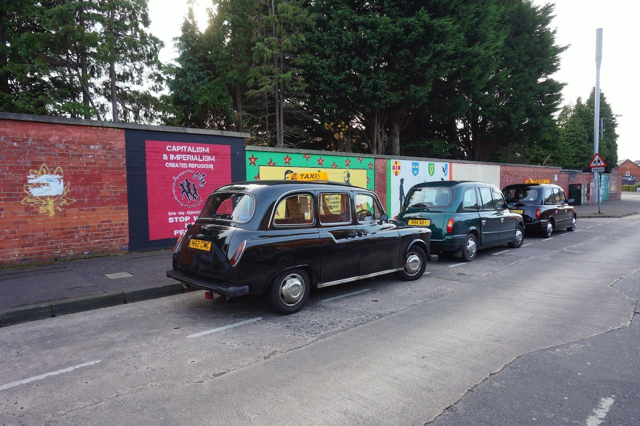 Black taxis in Belfast