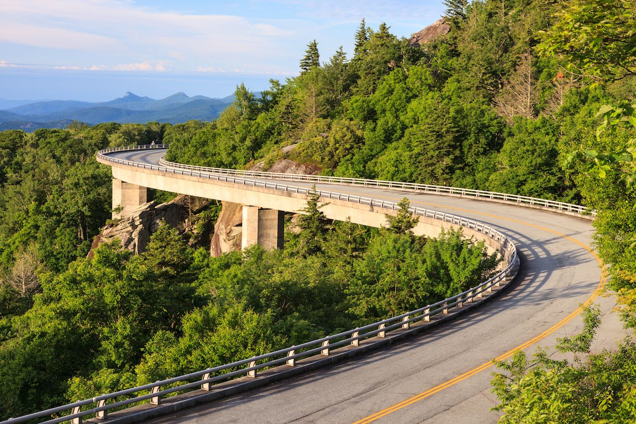 Blue Ridge Linn Cove Parkway Viaduct in Western North Carolina