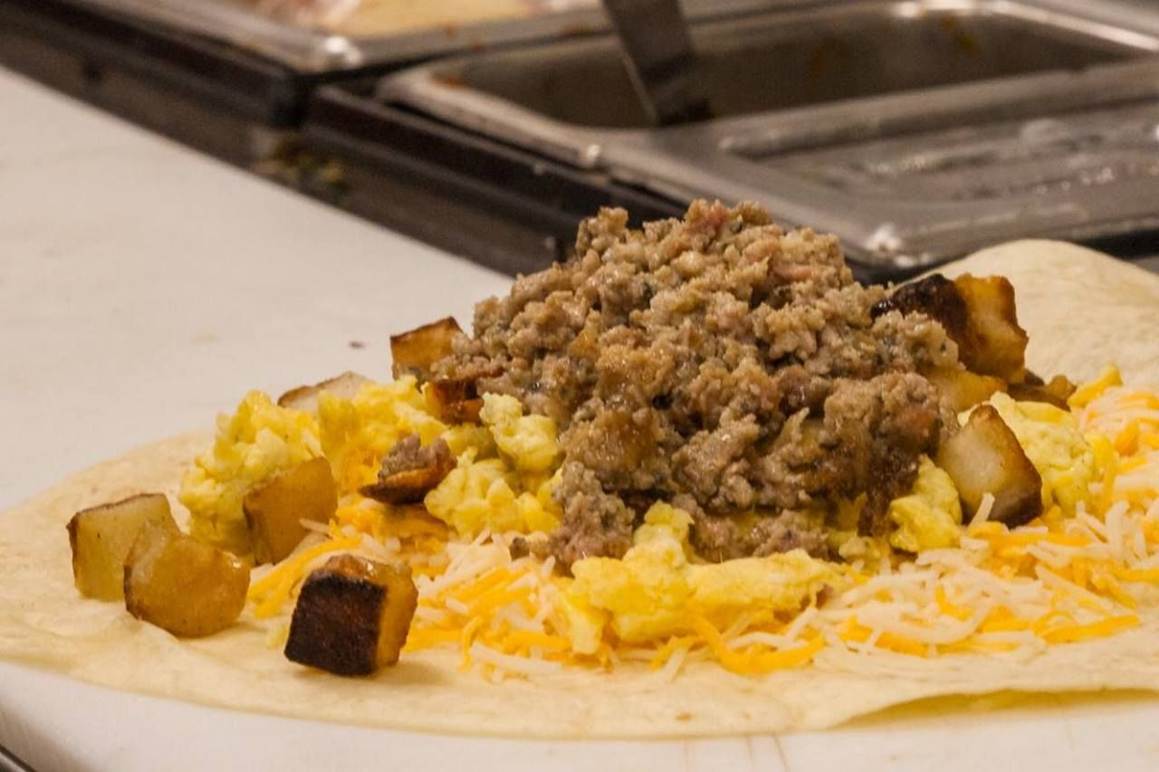 Breakfast burrito from Scott's Kitchen in Kansas City, Missouri