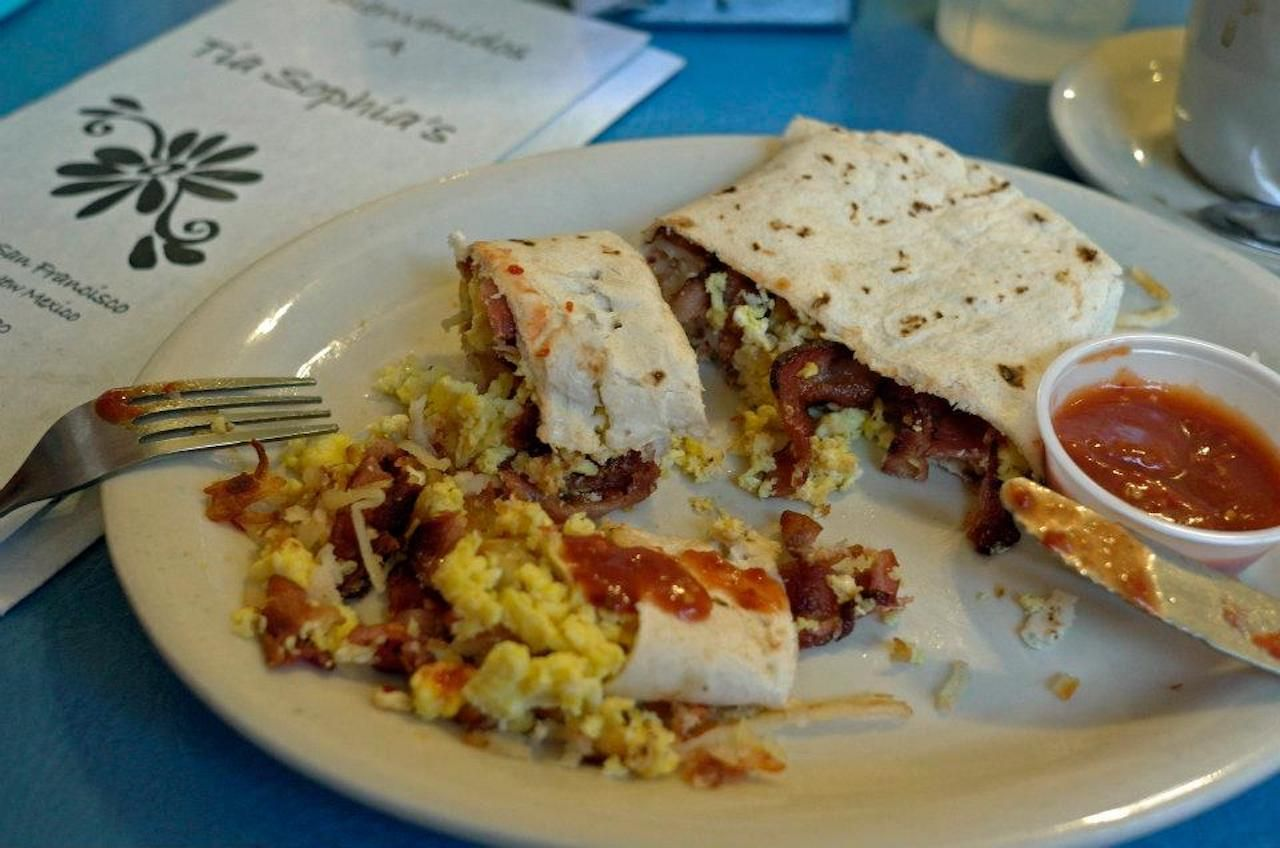 Breakfast burrito from Tia Sophia's in New Mexico