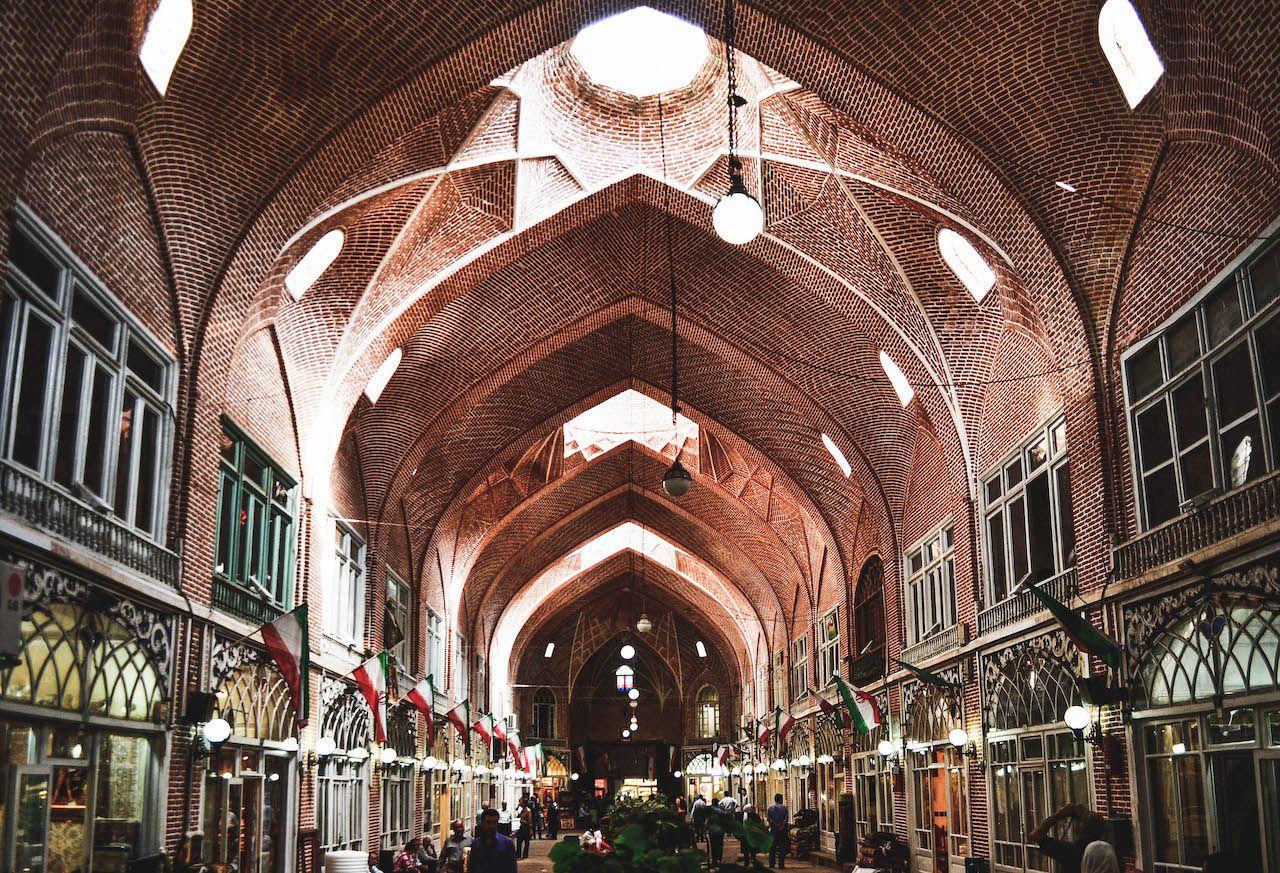 Brock-covered bazaar in Tabriz, Iran