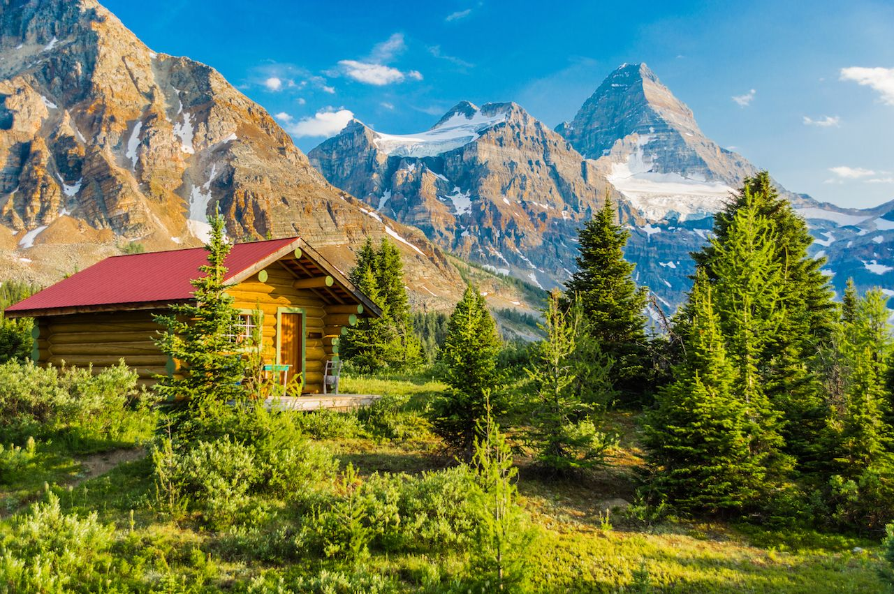Cabin in the woods of Mount Assiniboine