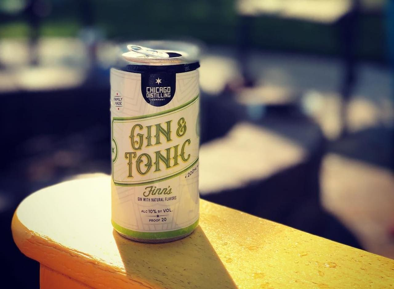 Chicago Distilling Company gin and tonic