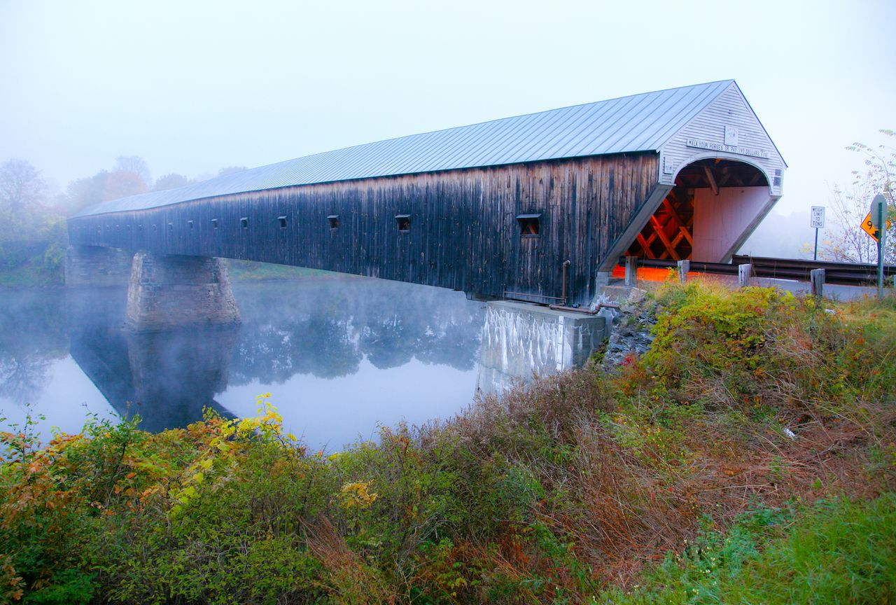 Cornish Windsor Covered Bridge in New England