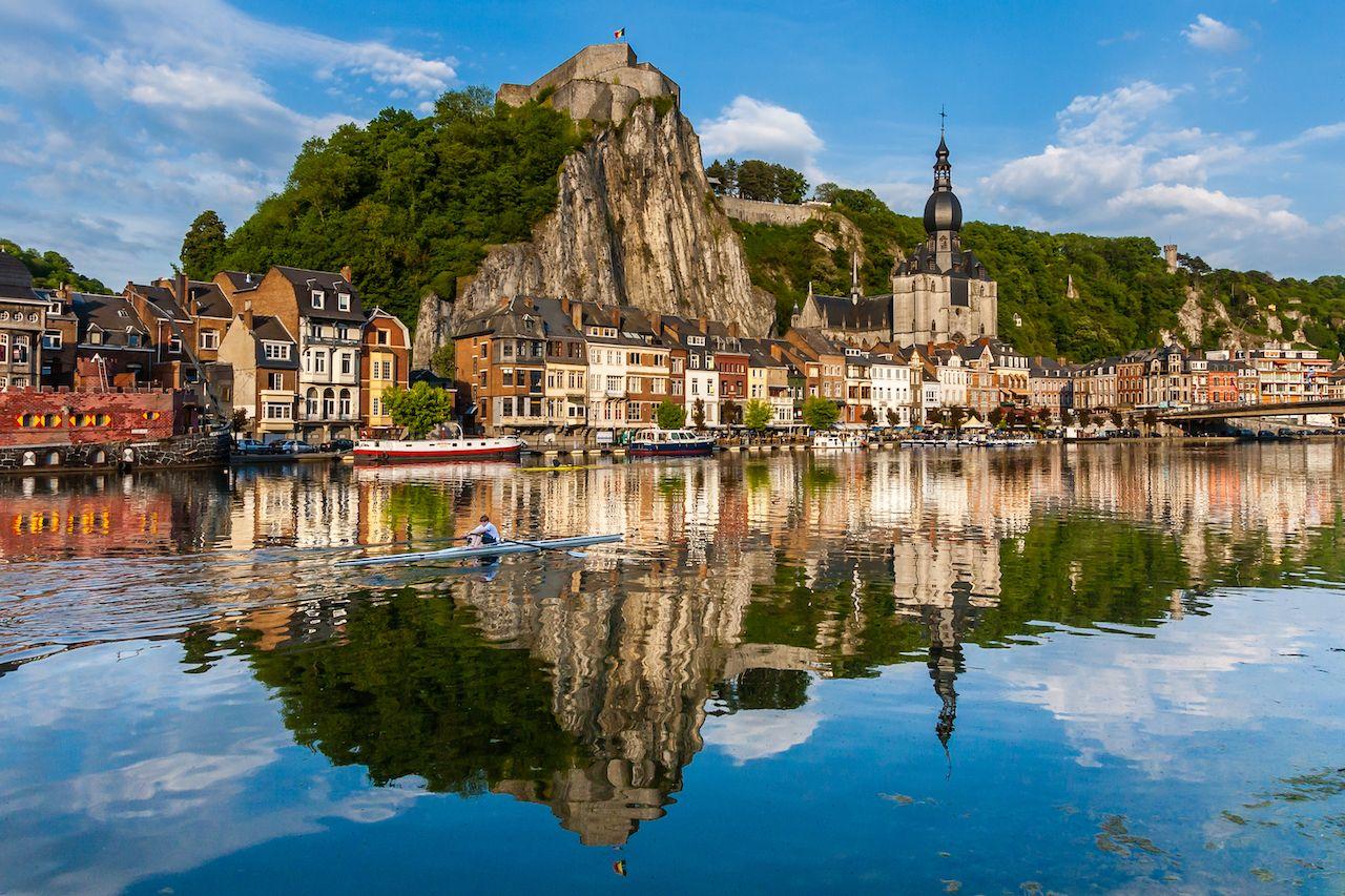 Dinant cityscape, Belgium