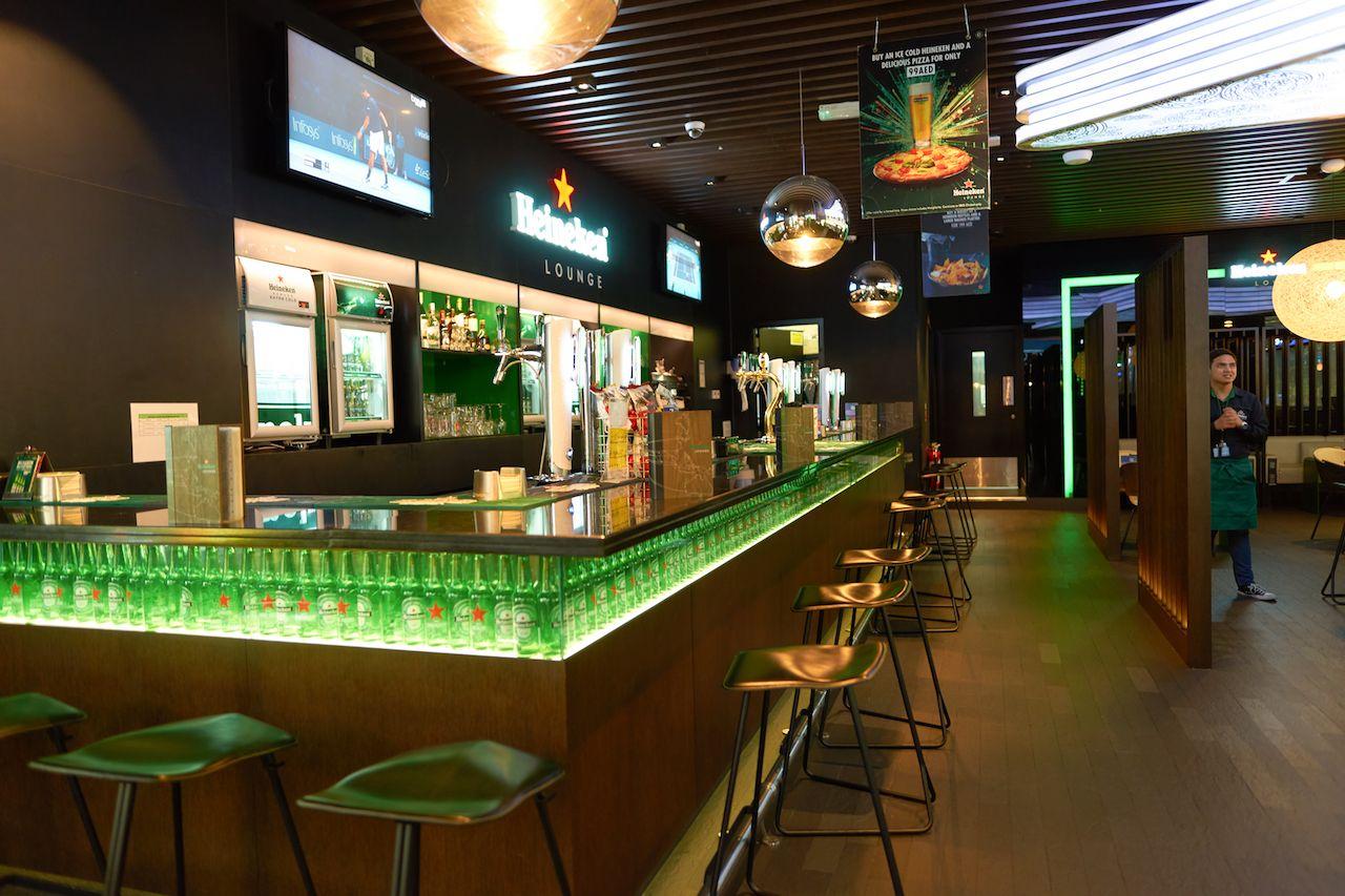 Dubai Airport Heineken Lounge