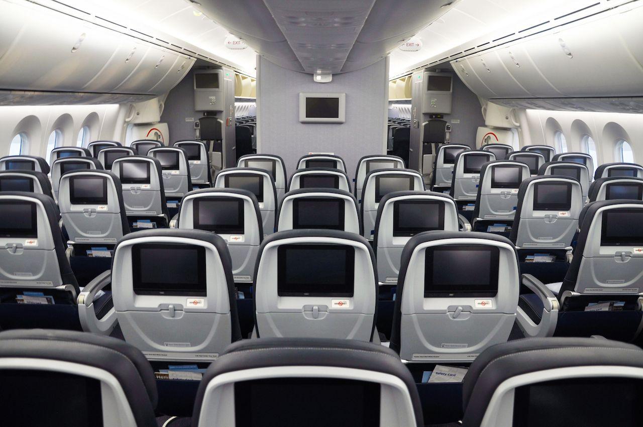 US airlines  seatback screen cameras