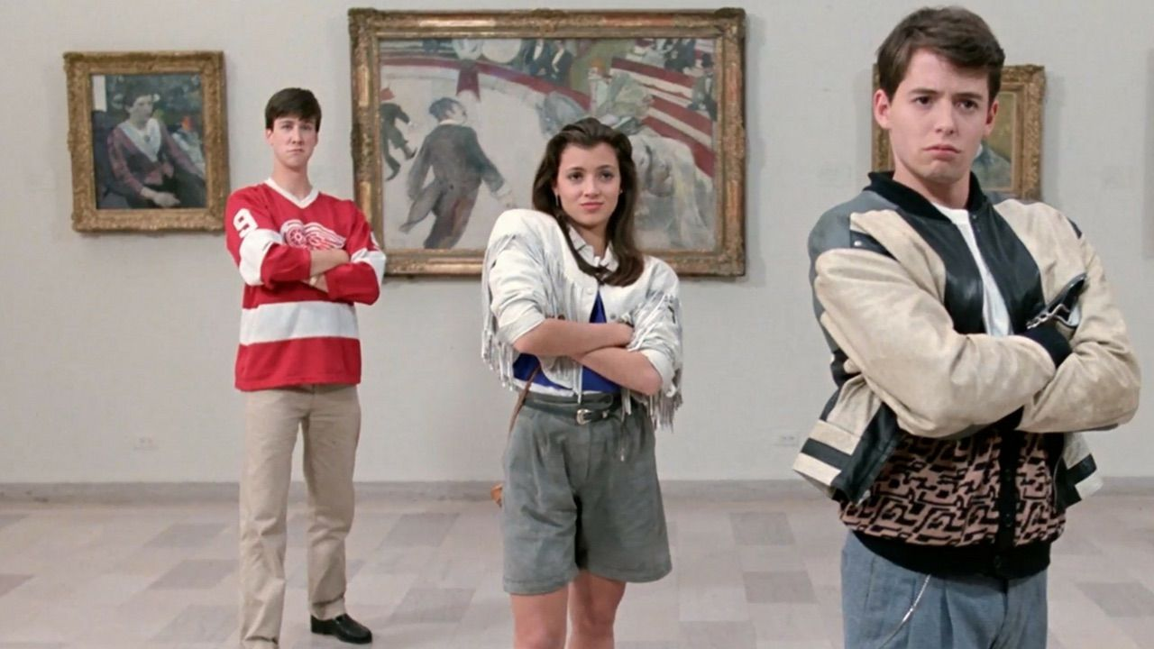 Ferris Bueller's Day Off still in the Chicago art museum
