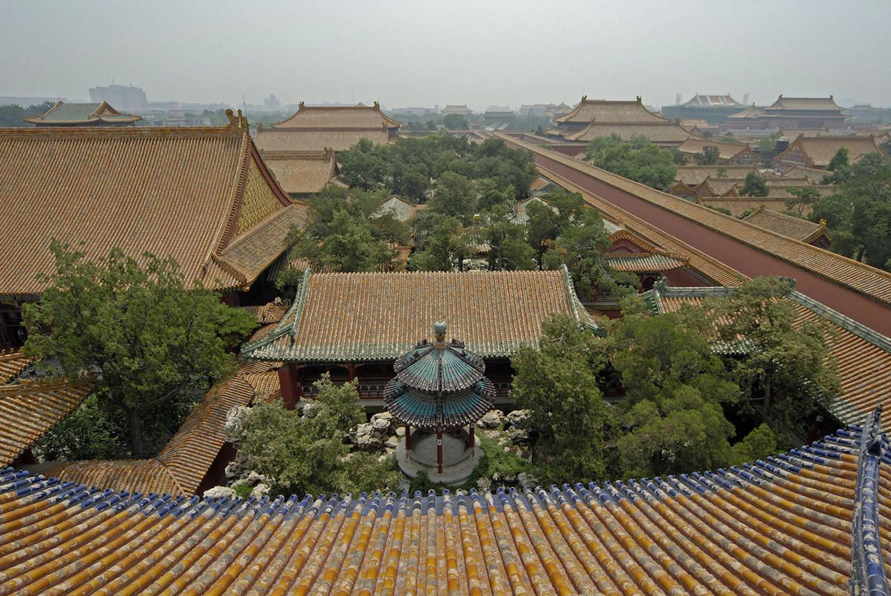 View of the garden complex from above
