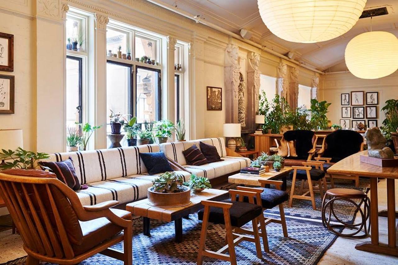 Freehand New York hotel common room