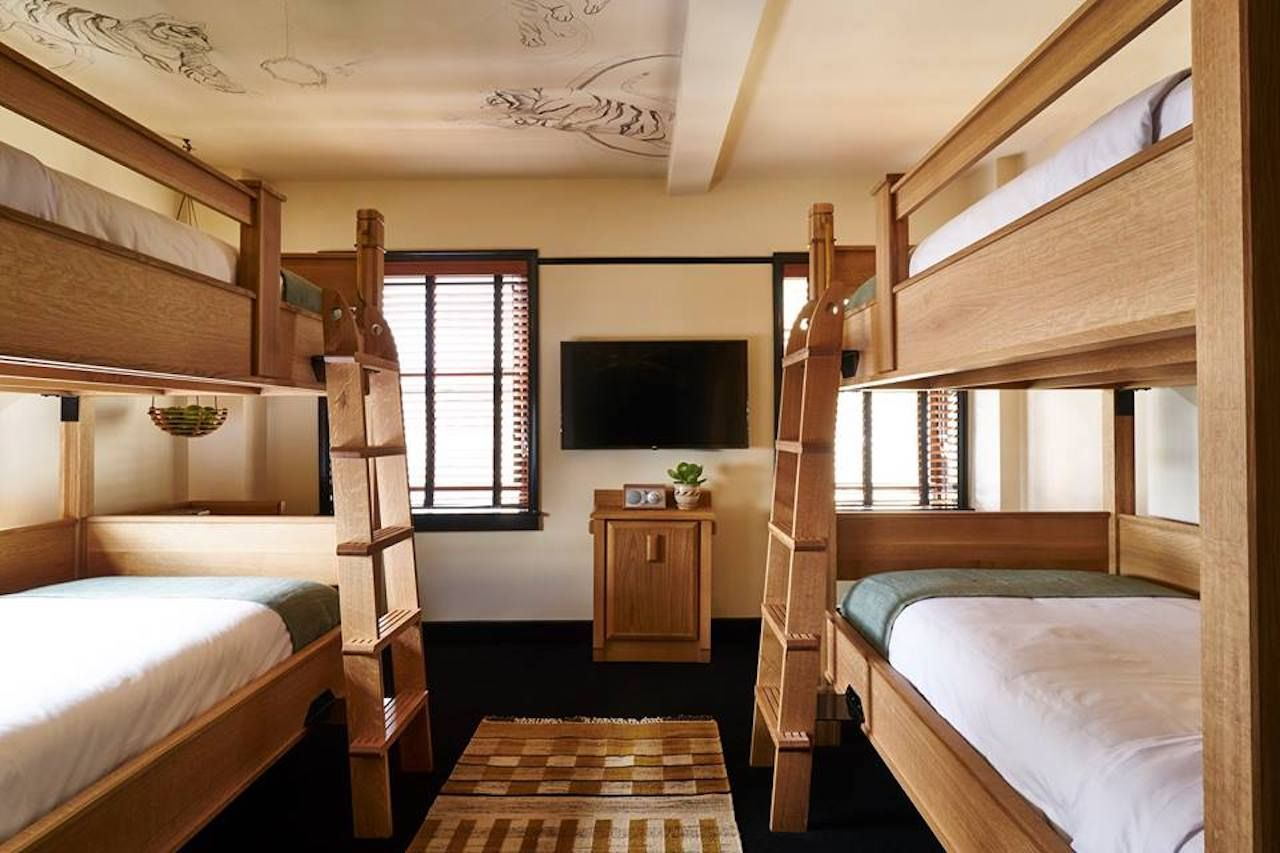 Dorm Room Inspired Hotels With Bunk Beds Communal Rooms