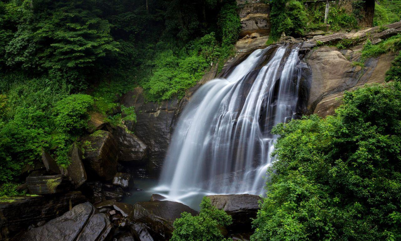 Huluganga Falls, Knuckles Mountain Range, Sri Lanka