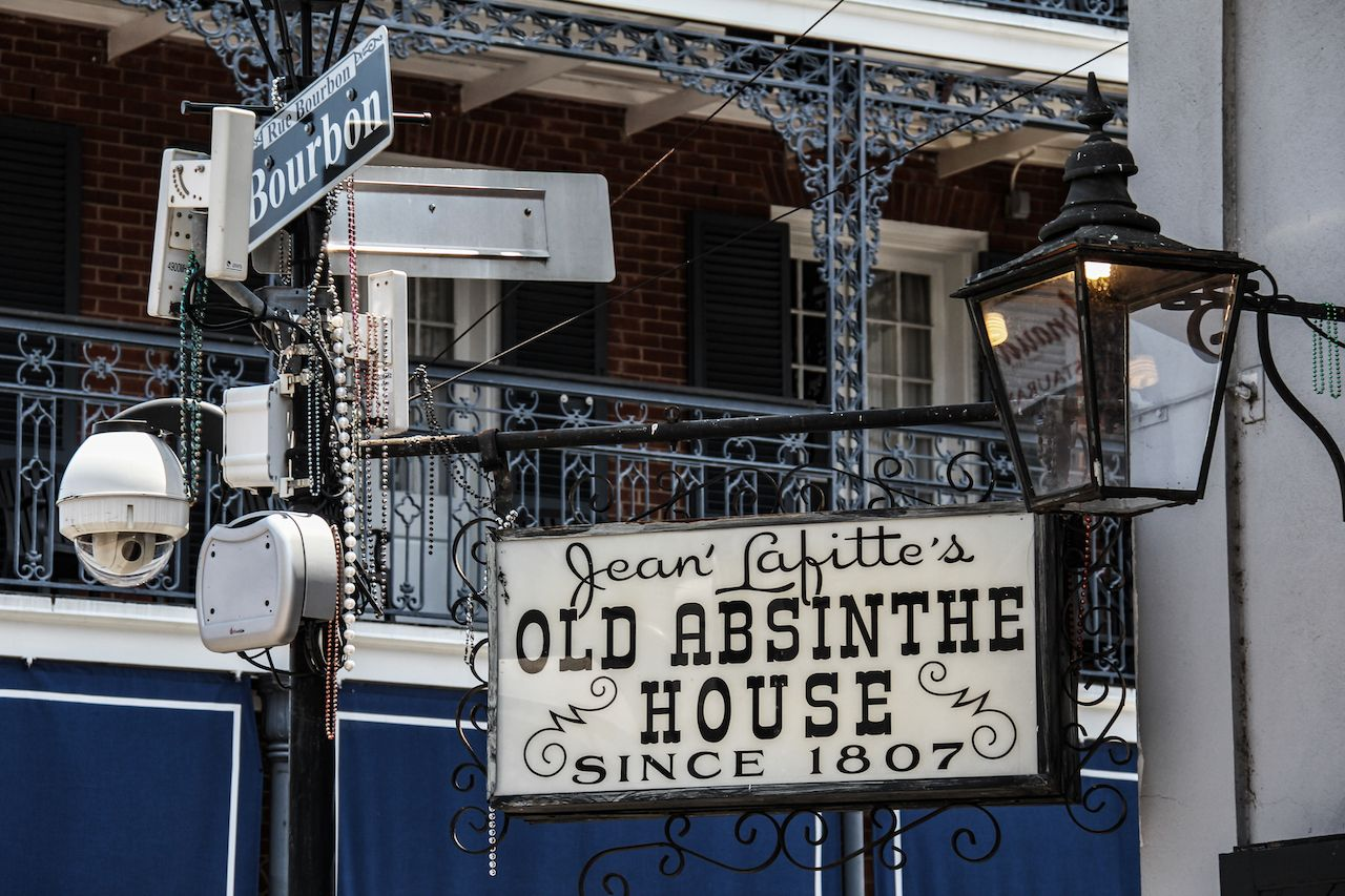 Jean Lafitte's Old Absinthe House, a landmark New Orleans