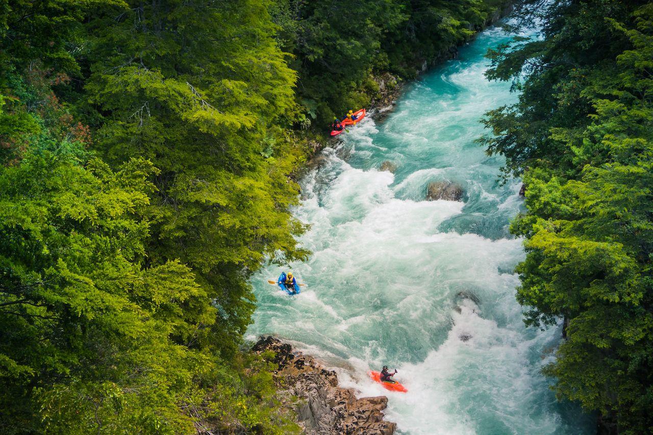 Kayaking at Futaleufu River, Patagonia