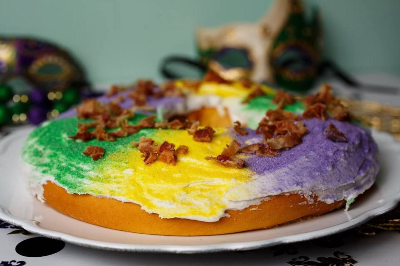 King cake from Lilah's Bakery in New Orleans