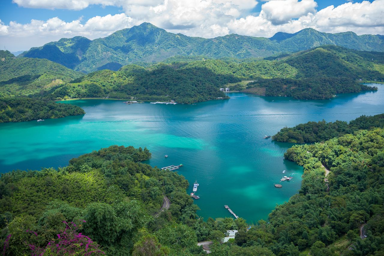 Landscape of Sun-Moon Lake in Nantou, Taiwan
