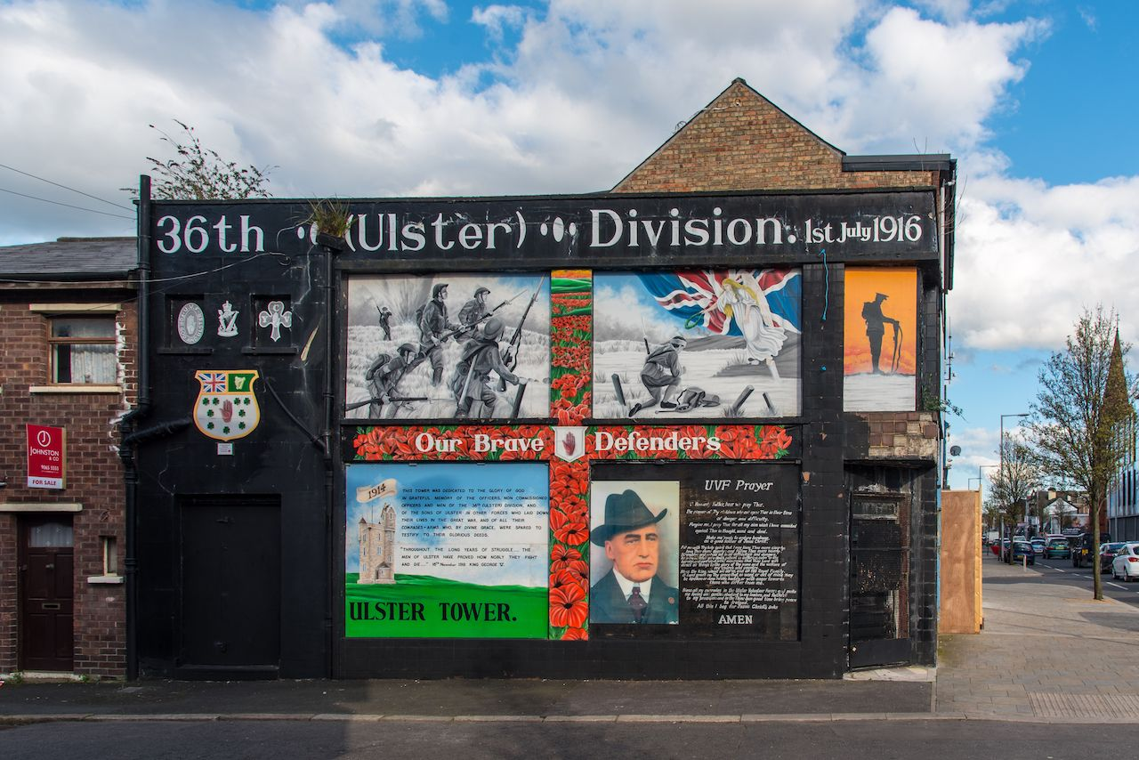 Loyalist Mural on Newtownards Road, Belfast