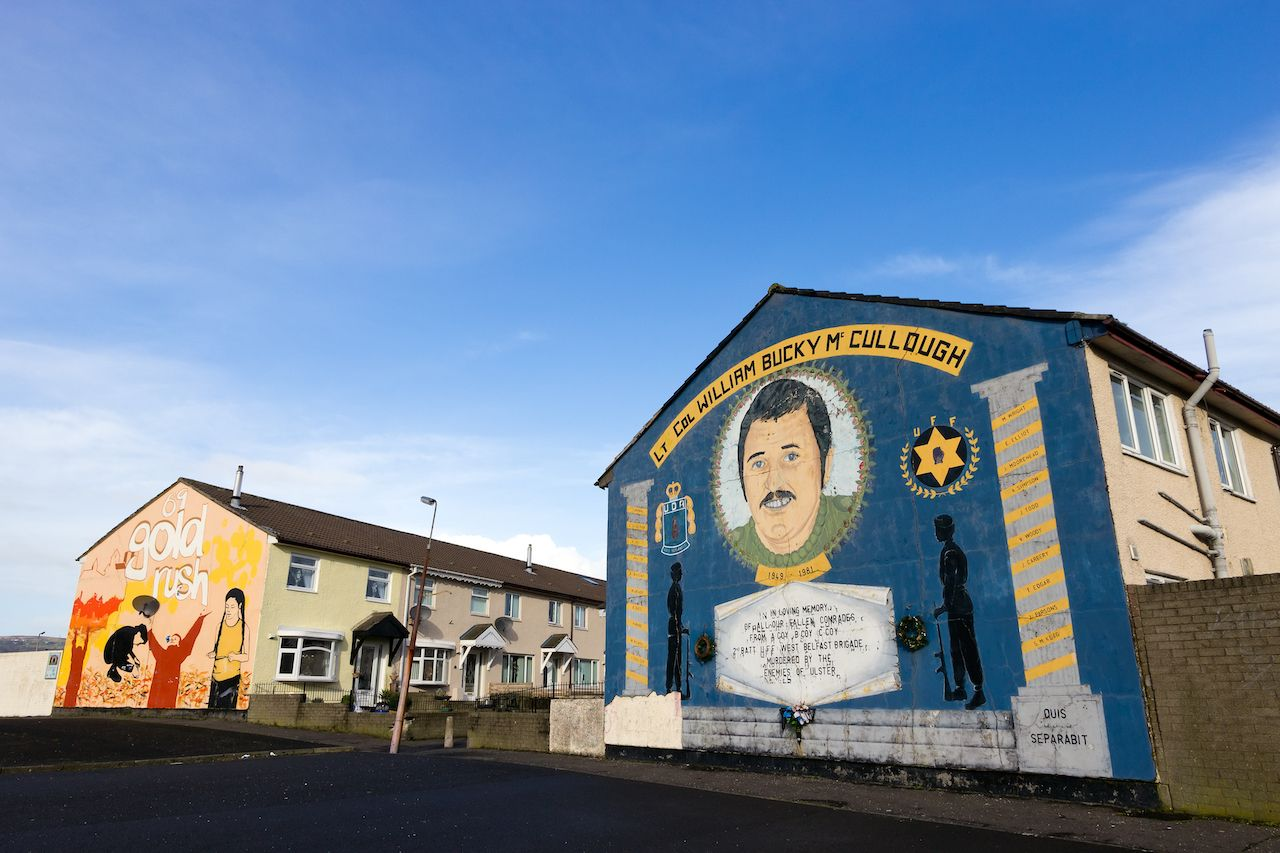 Loyalist mural in Belfast
