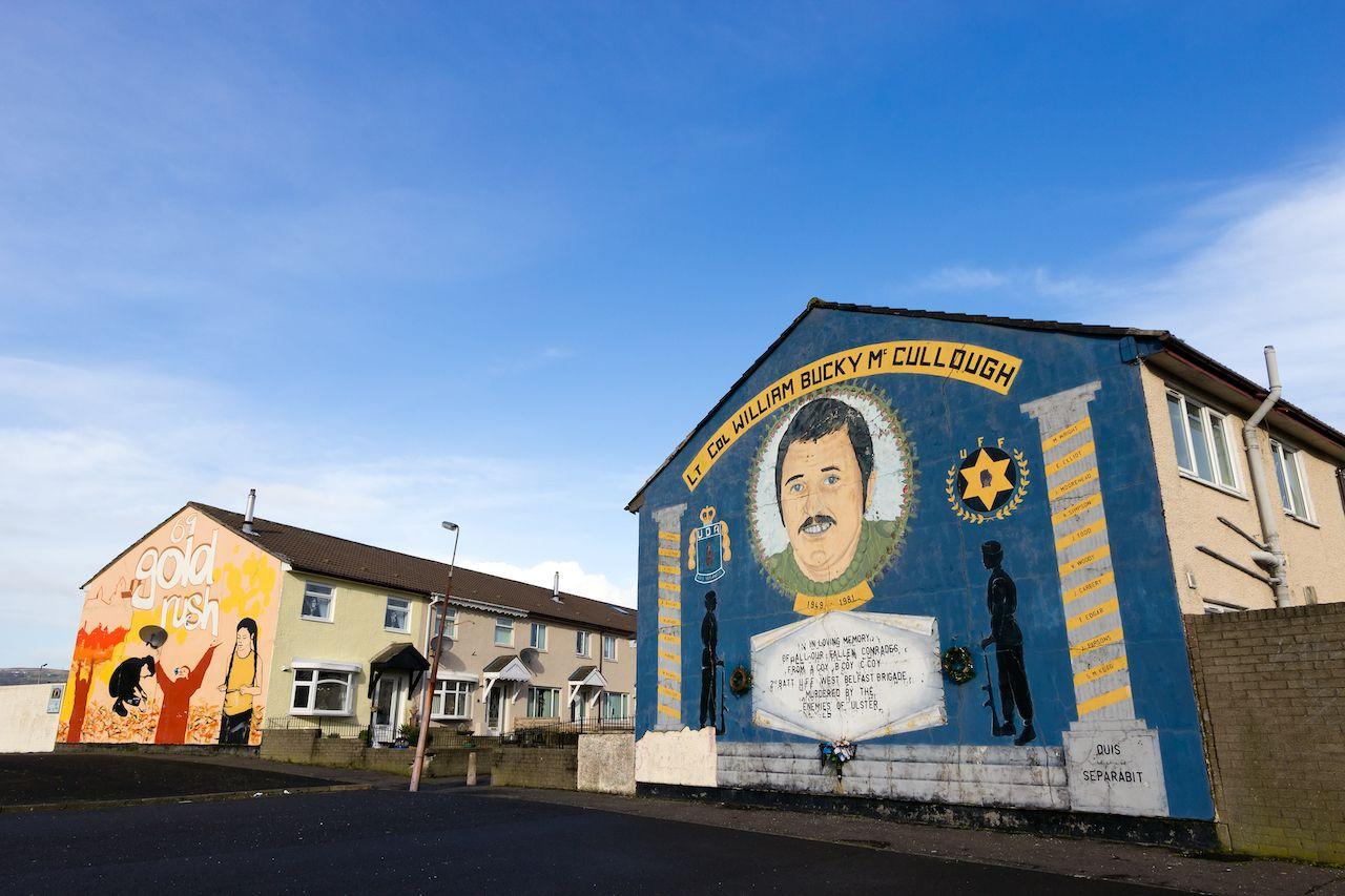 Loyalist mural in Belfast