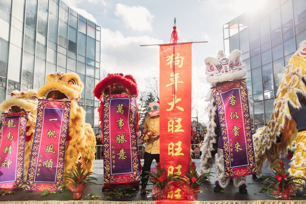 Lunar New Year Festival, people in costume
