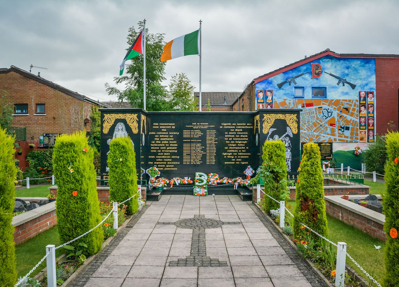 Memorial Garden in Falls Road, Belfast