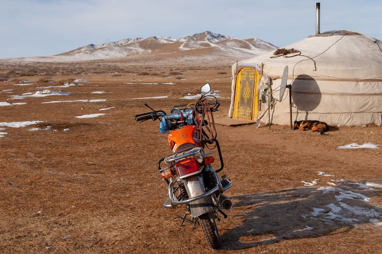 Motorbike in Mongolia