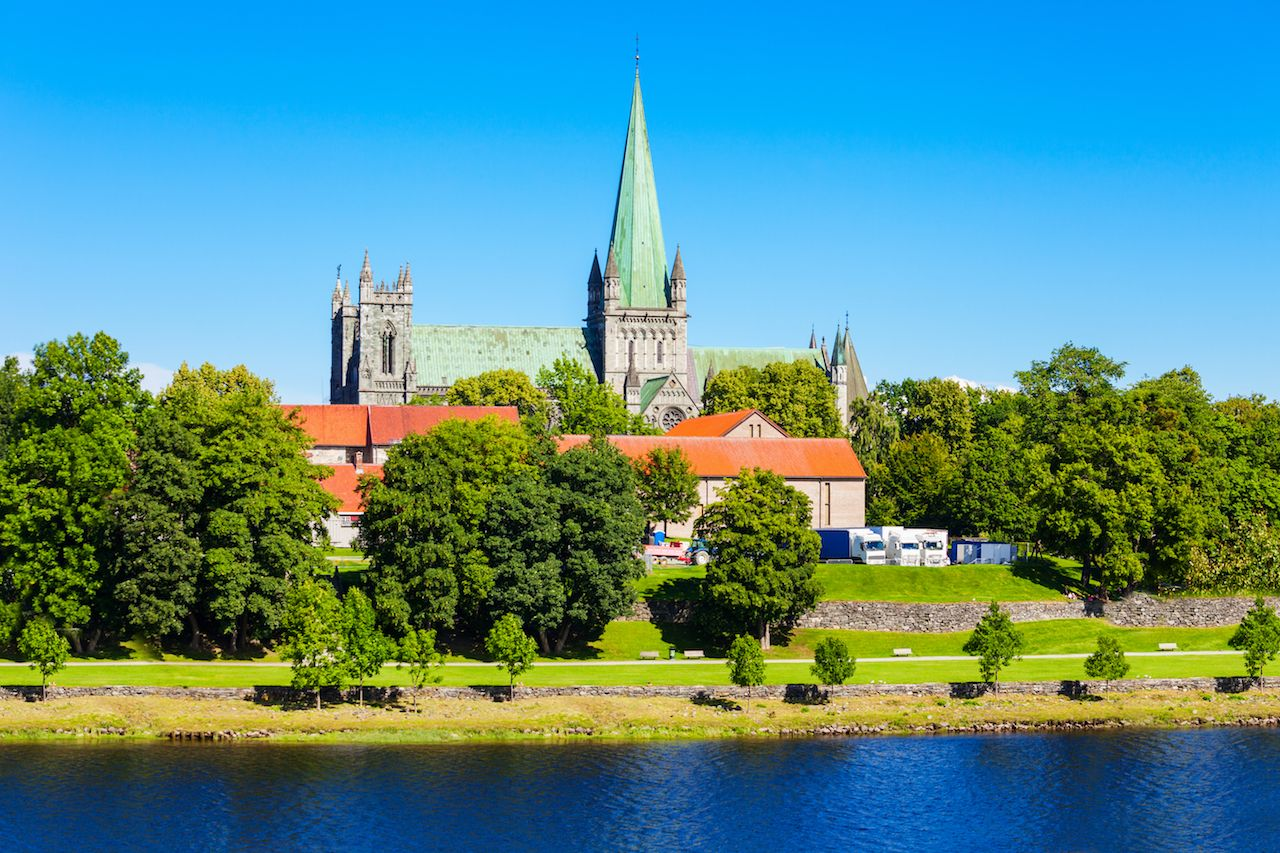 Nidaros Cathedral located in Trondheim, Norway