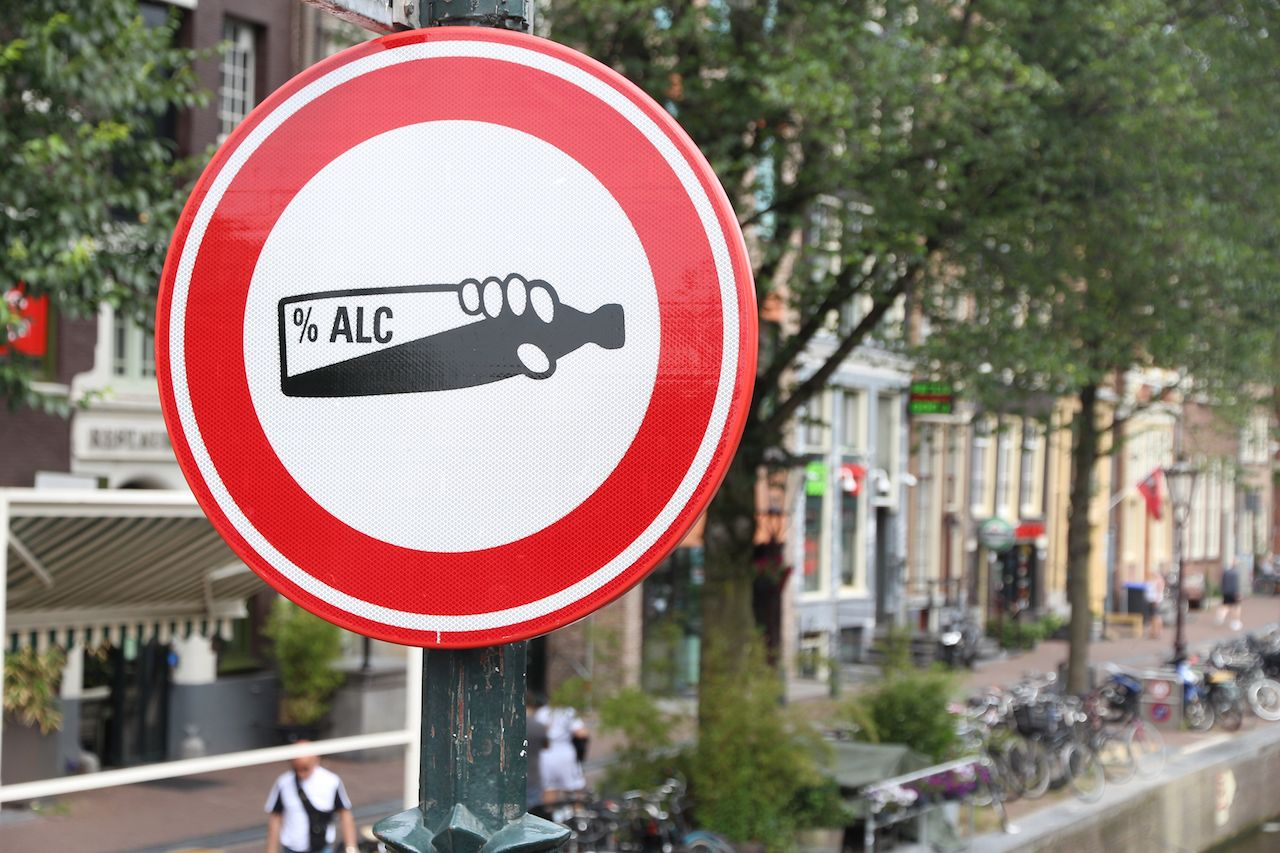No alcohol sign in Amsterdam