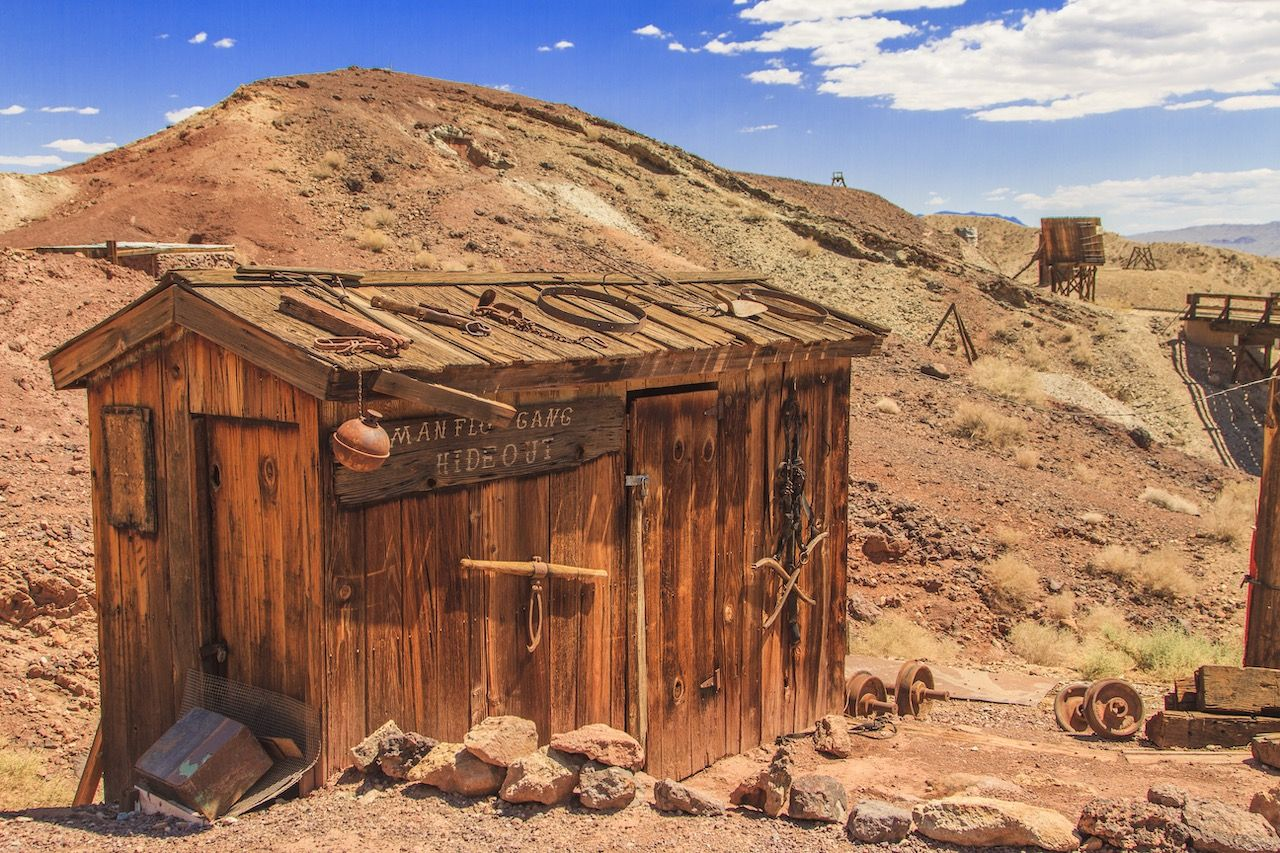 Old building in the Calico Ghost Town in San Bernardino County, California