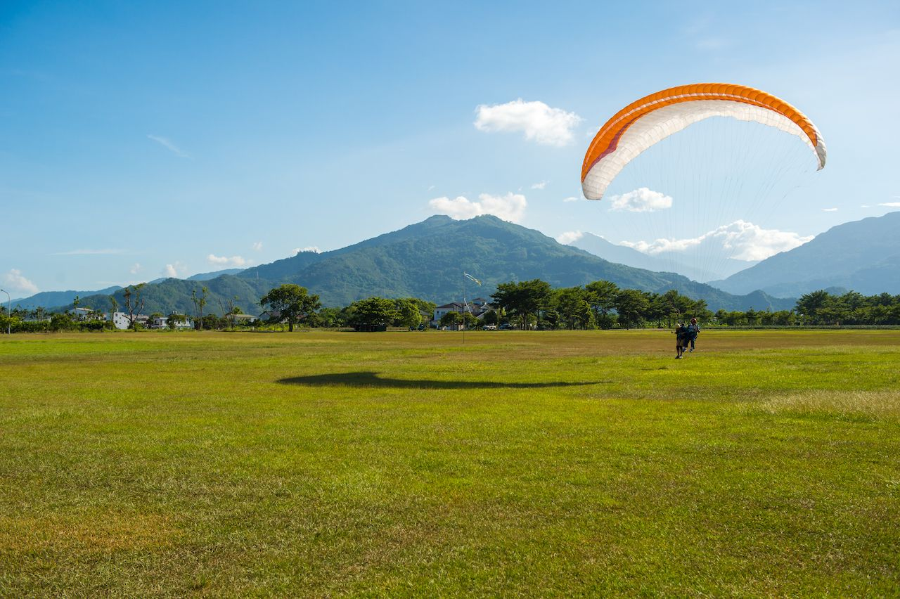 Paragliding in Taiwan Taitung