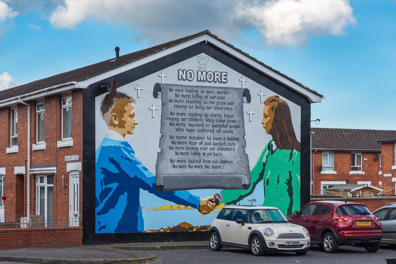 Peace Mural on Newtownards Road, Belfast