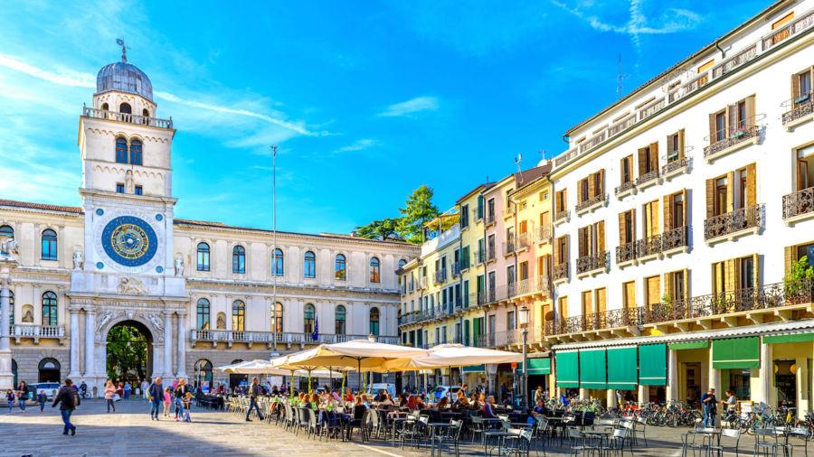 Piazza dei Signori and Torre dell'Orologio