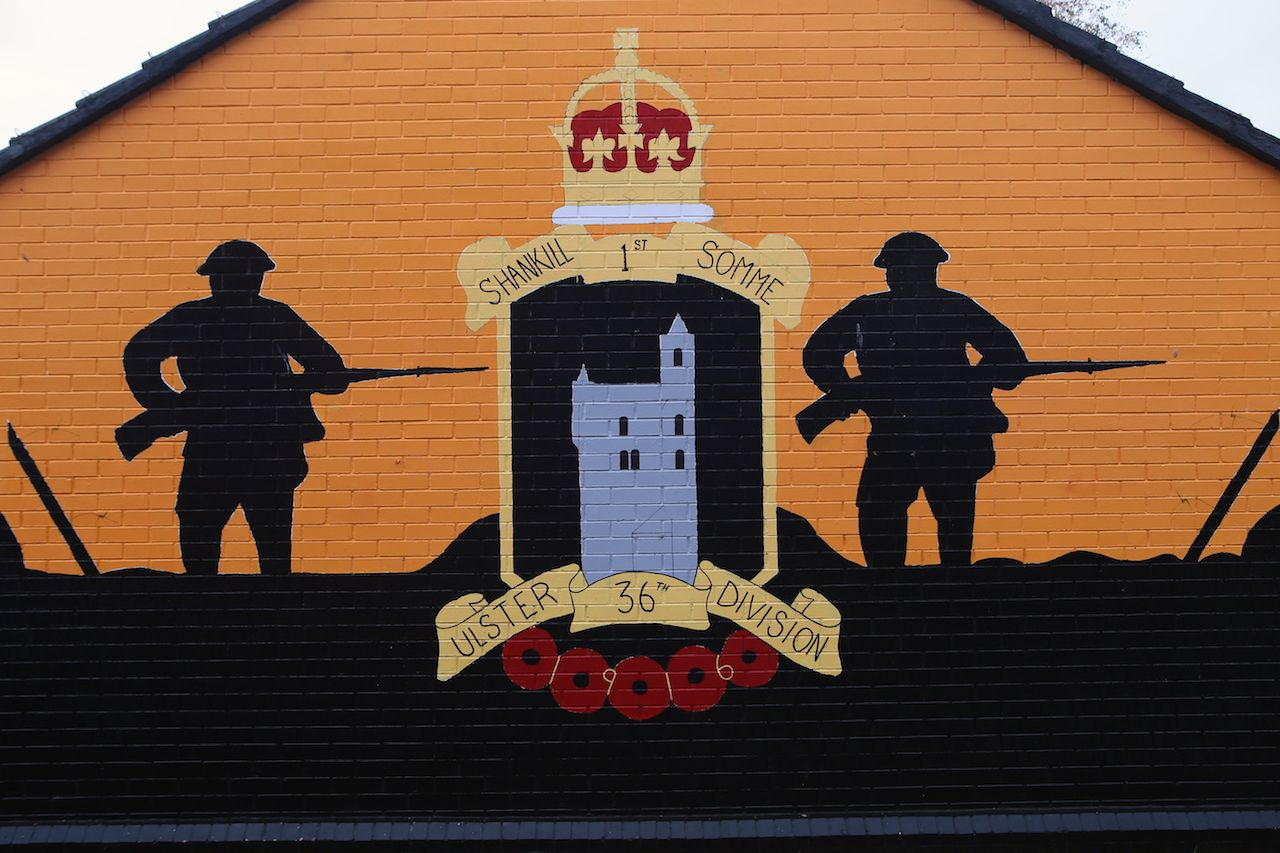 Political Wall Loyalist in Shankill Road, Belfast