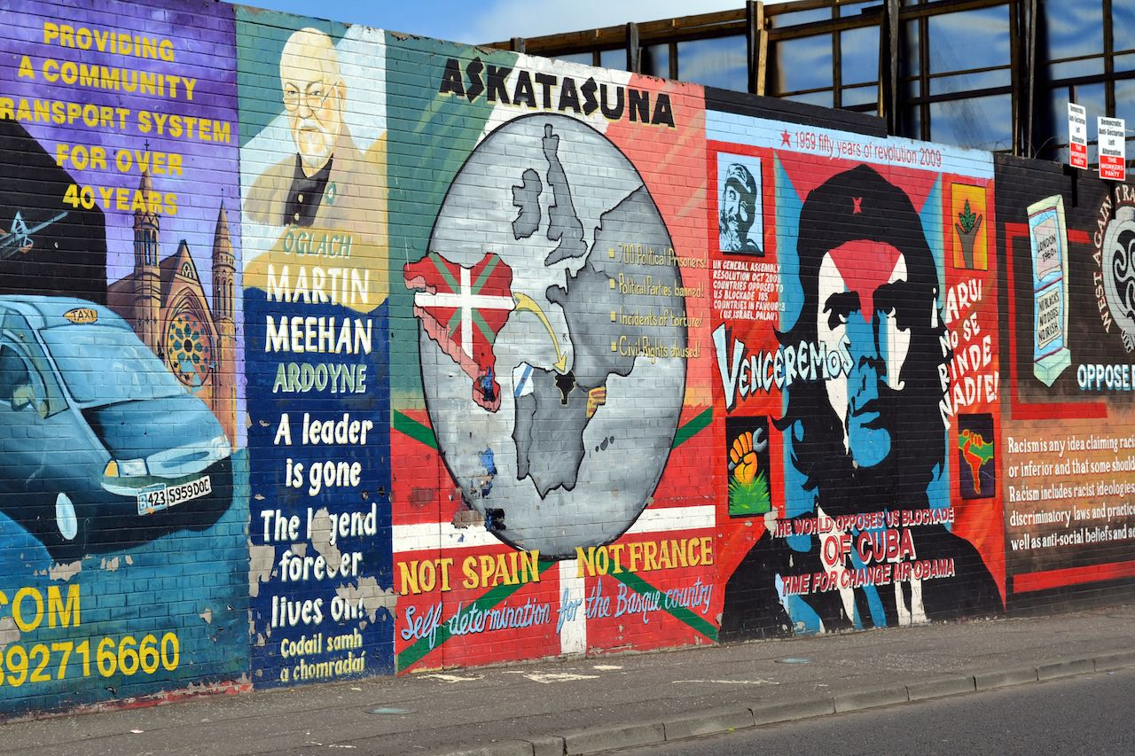 Political murals in Belfast, Northern Ireland