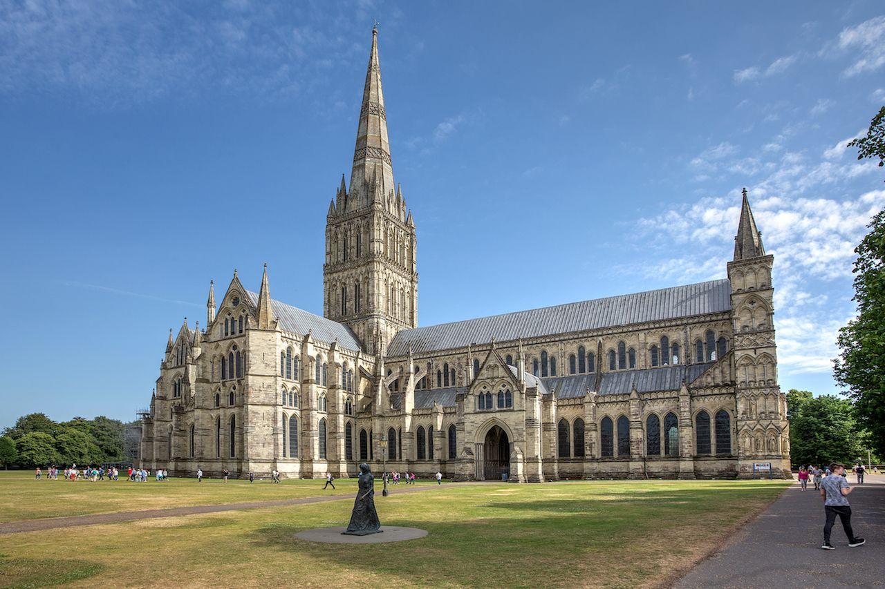 Salisbury Cathedral on the North