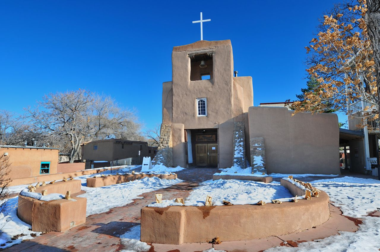 San Miguel Mission Chapel in Santa Fe, New Mexico