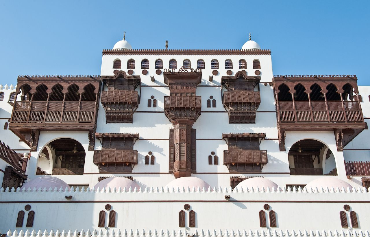 Saudi Arabia, Jeddah, the Abdul Raouf Khalif Palace and Mosque