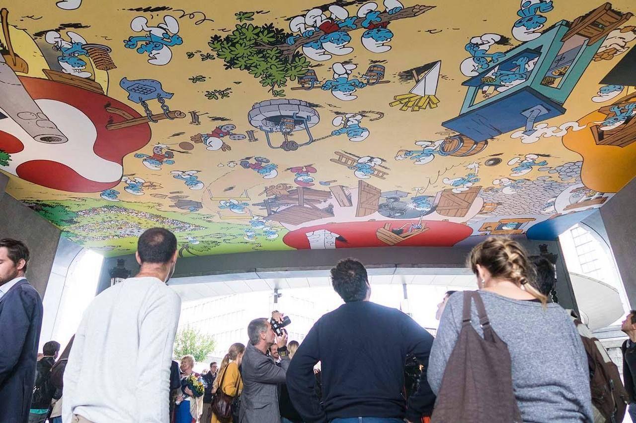 Smurfs mural