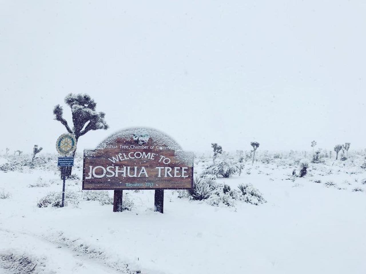 Rare snowfall in Western US