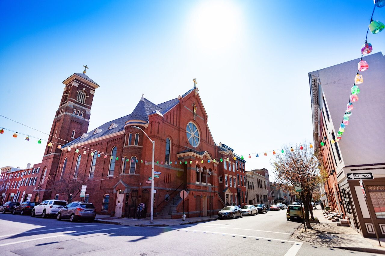 St. Leo's Church in Little Italy, Baltimore, USA