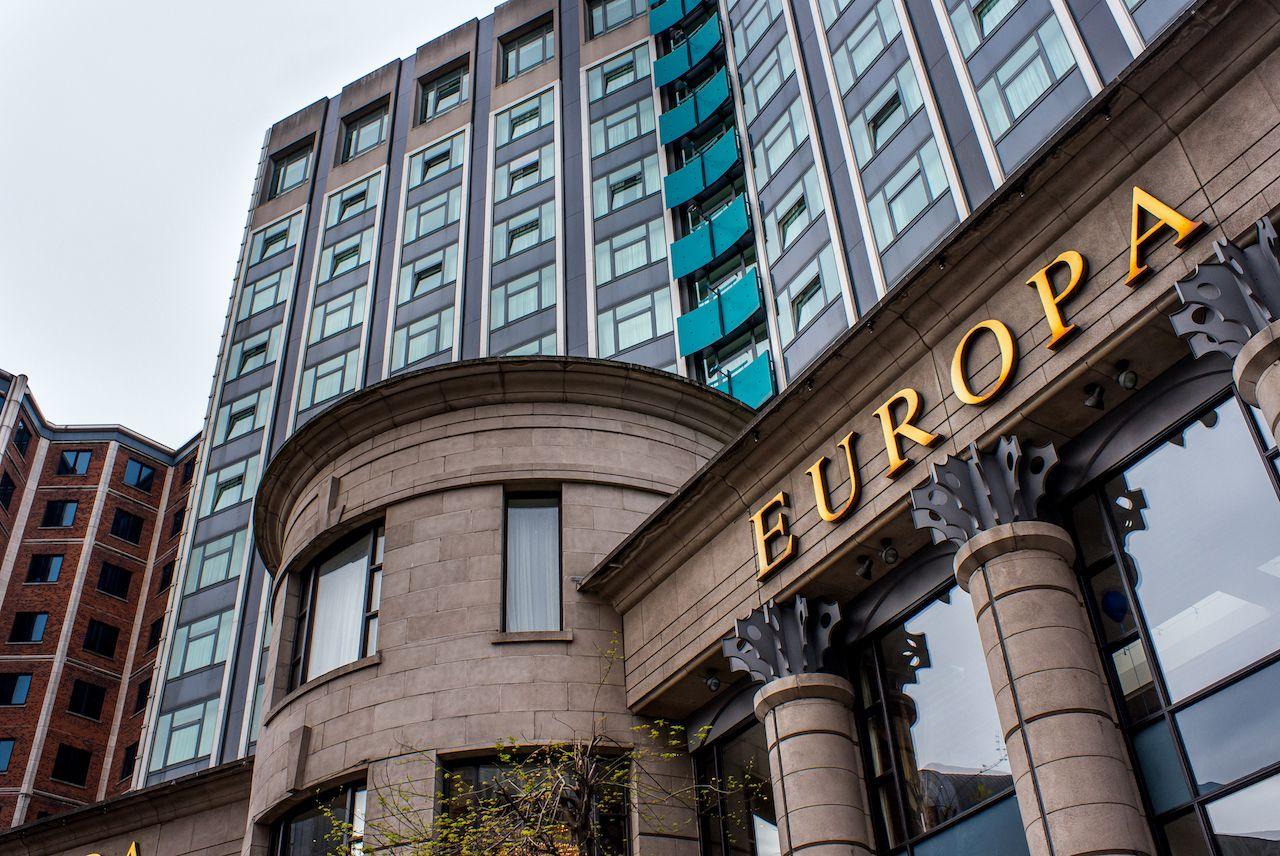 The Europa Hotel in Belfast, Northern Ireland