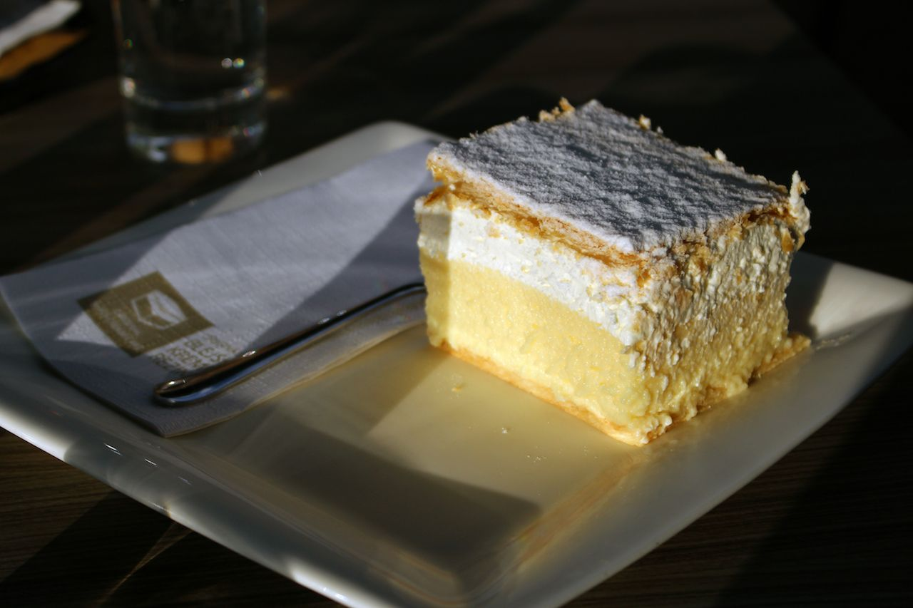 Traditional slovenian cream cake