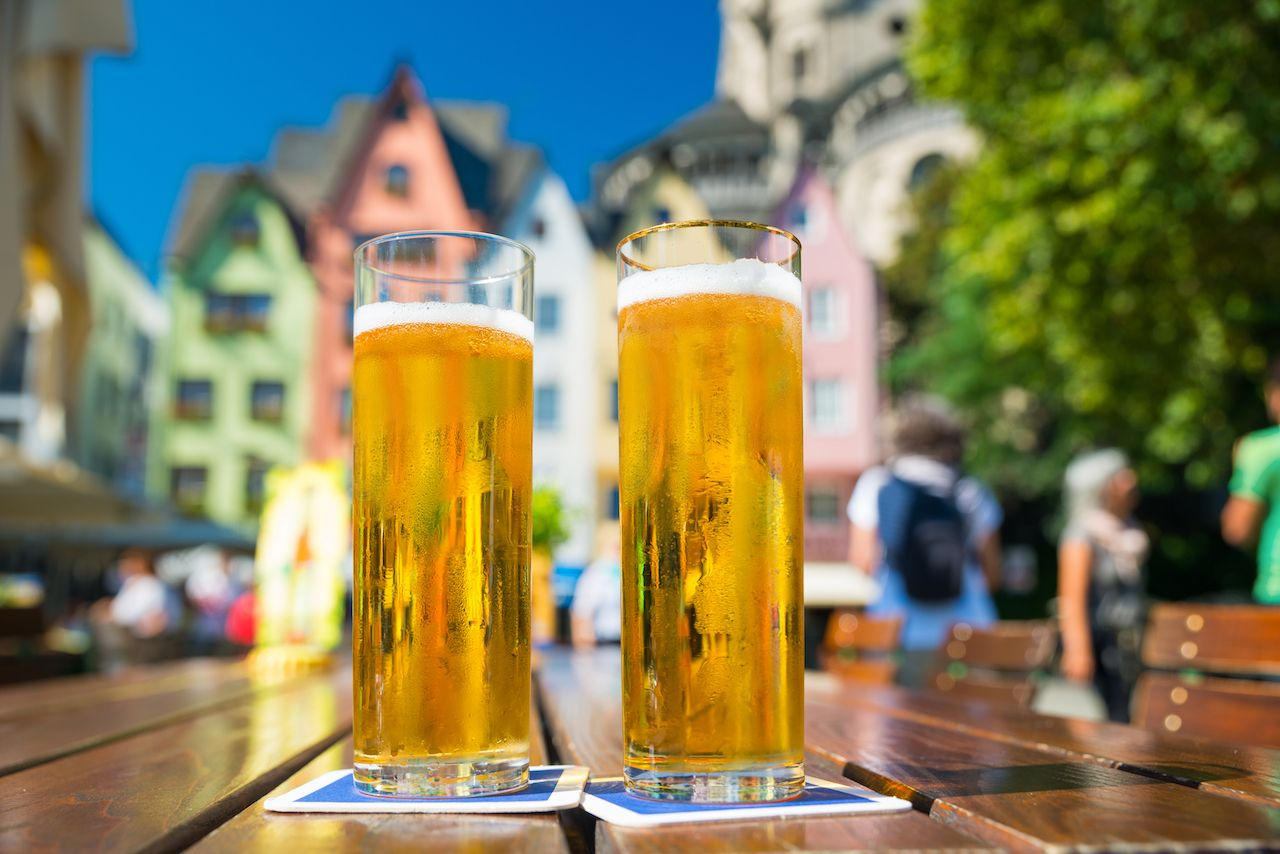 Two glasses of Kolsch beer