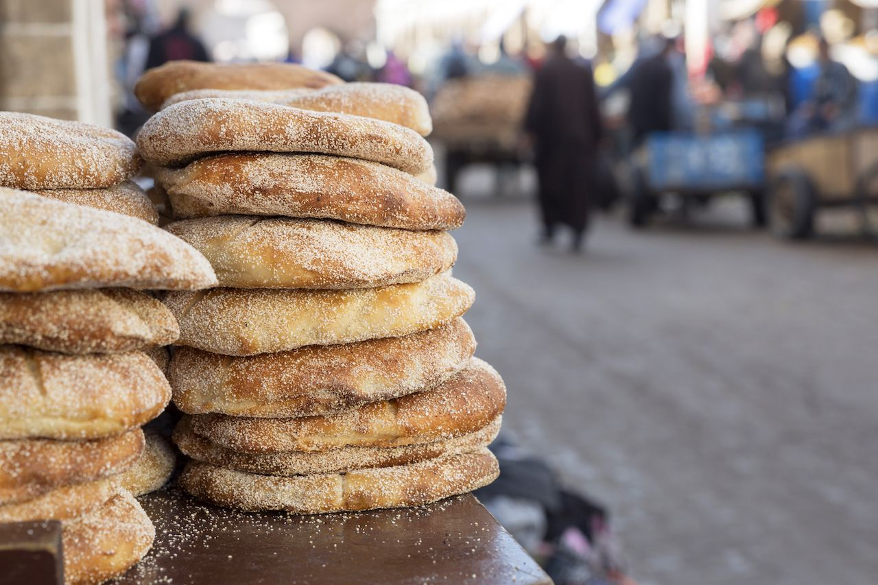 Traditional Moroccan flatbreads