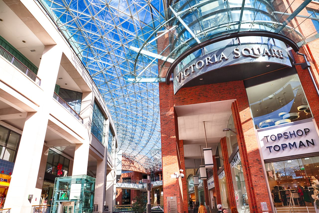 Victoria Square Shopping Centre in Belfast City Centre