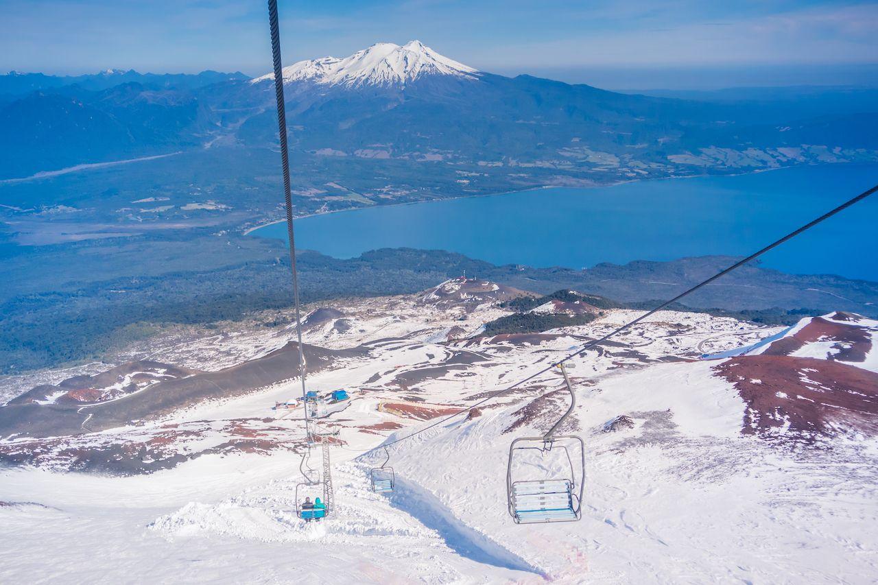 View from Osorno Volcano, Chile